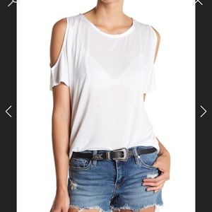 Paige Tamsin cold shoulder tee